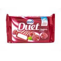 Igloo Duet Ice Cream Raspberry & Vanilla - 65 ml