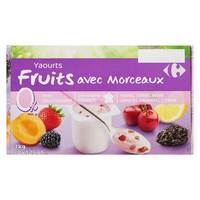 Carrefour Kids Yogurt Double Cream & Fruits 0% 125gx8