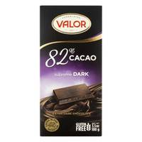 Valor 82% Cacao Dark Chocolate 100g