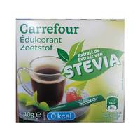 Carrefour Sweetener Stevia Sticks 40 Pieces