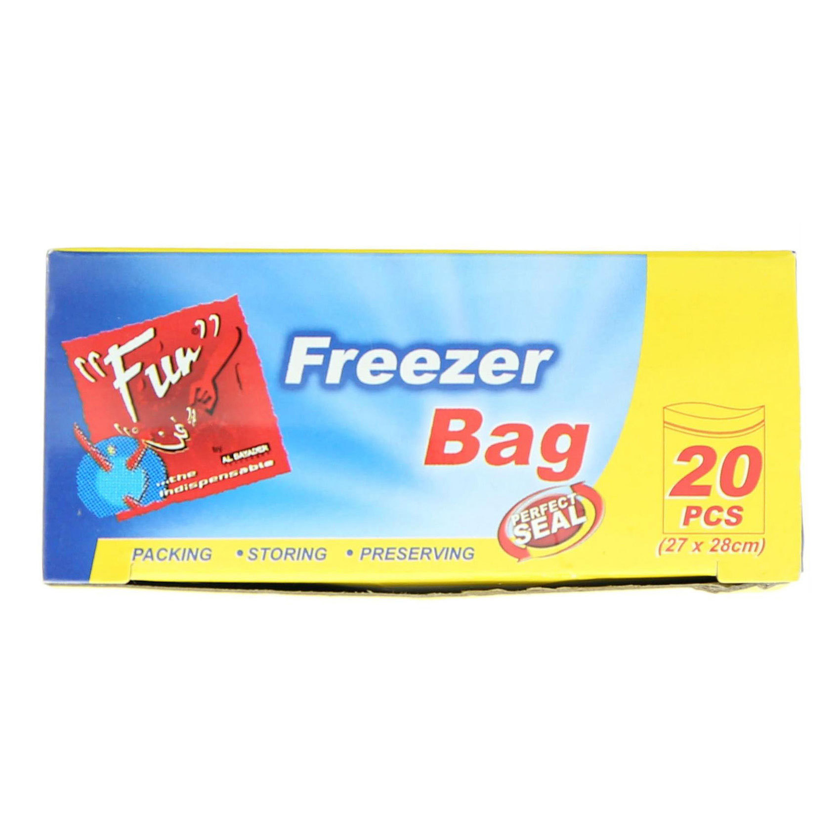 FUN FREEZER BAGS W/ZIP 27X28CM 20PC