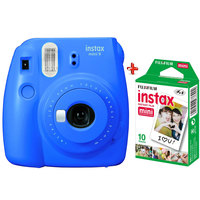Fujifilm Instant Film Camera Instax Mini 9 Cobalt Blue + Single Pack Film