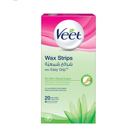 Veet Dry Skin Wax Strips with Easy Grip 20 Strips