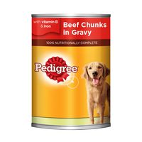 Pedigree Beef Chunks in Gravy Dog Food 400g