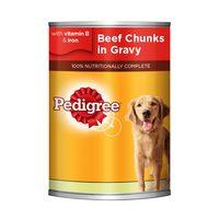 Pedigree Beef Chunks in Gravy Dog Food 400g