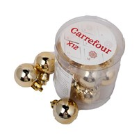 Christmas Plated Ball 30 Mm 12 Pieces Gold