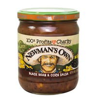 Newman's Own Black Bean & Corn Salsa Medium Chunky 453g