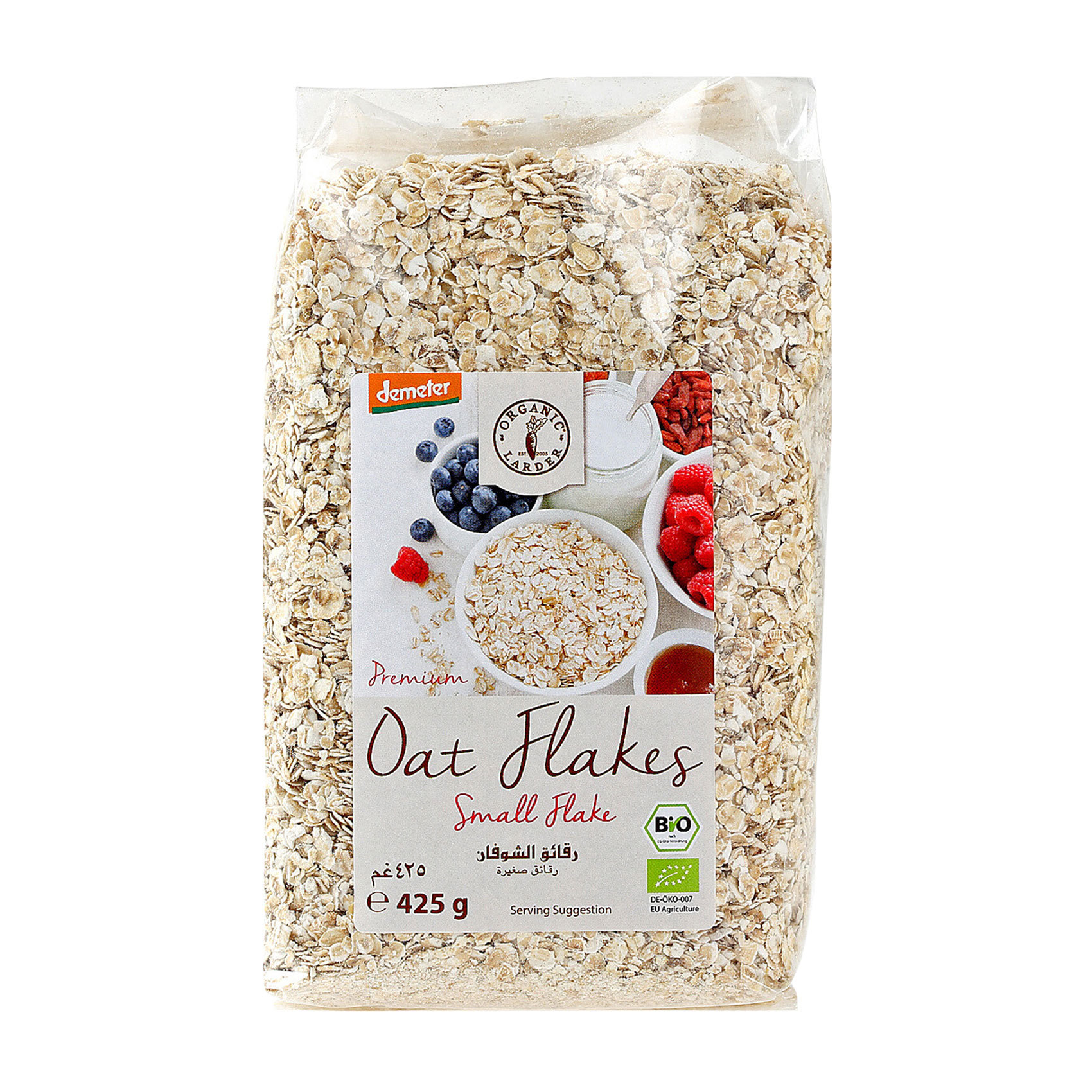 ORGANIC ROLLED OATS SMALL 425G