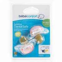 Bebeconfort Dental Safe Natural Rubber Soother Little Valleys (18 - 36M ) x2
