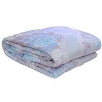 3D Super Soft Flannel Blanket Double Blue Grey