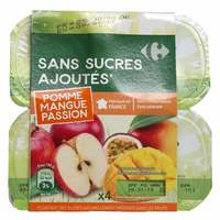 Carrefour Compote Apple,Mango And passion Fruit 100gx4