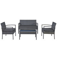 Economic Wicker Coffee Set With Cushions (Delivered within 7 business days)