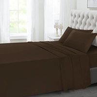 Tendance's Fitted Sheet Double Dark Brown 137X193
