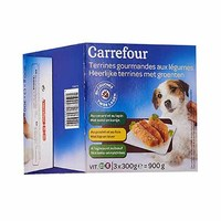 Carrefour Terrines For Dogs Gourmet With Vegetables 3X300GR