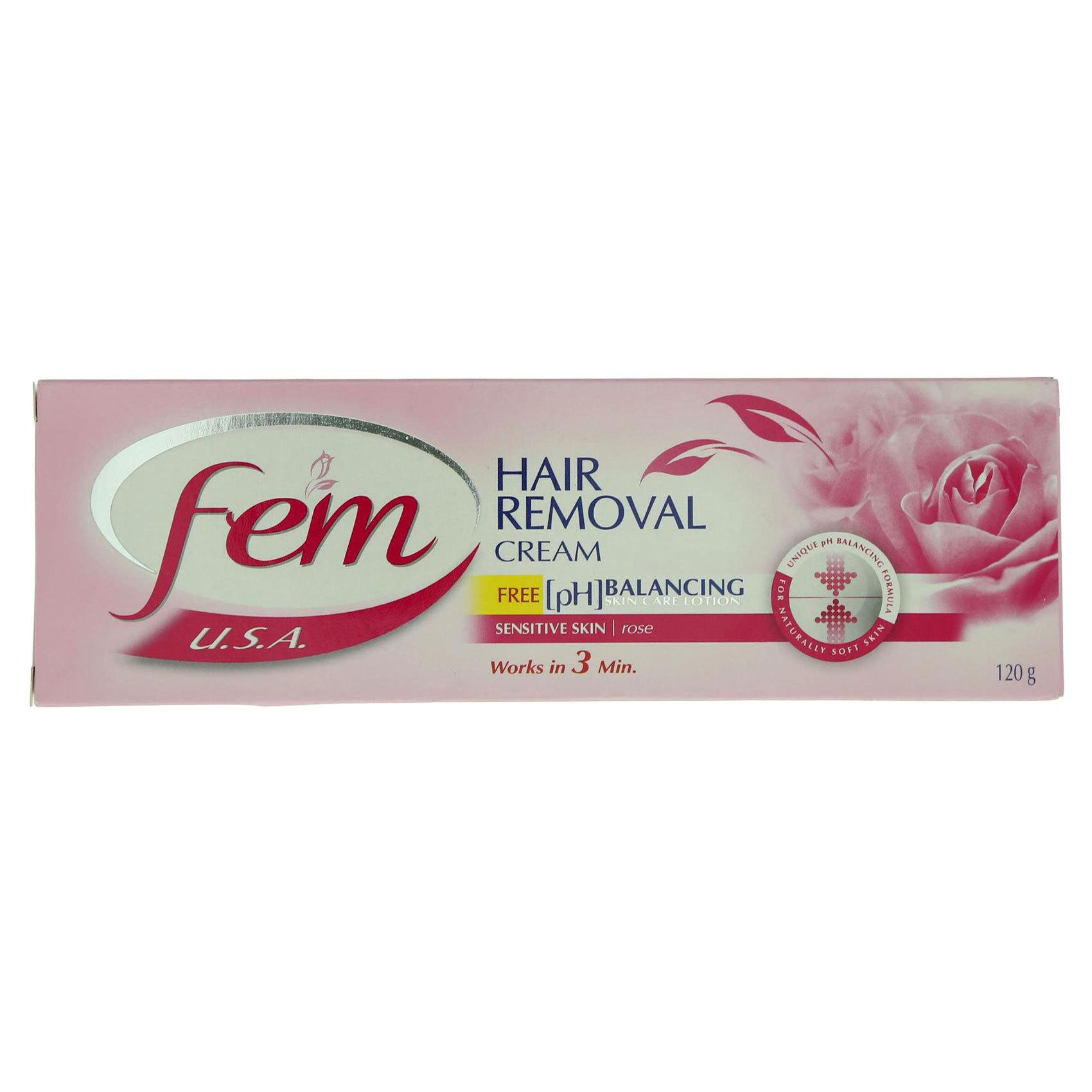 FEM HAIR REMOVING CREAM TUBE ROSE 1