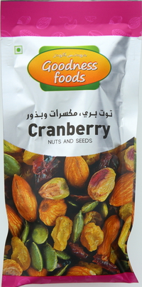 Goodness Foods Nuts & Seeds Cranberry 40g