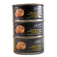 Carrefour Selection Albacore Tuna Solid Pack Sunflower Oil 185gx3