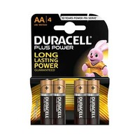 Duracell Plus Power Type AA Alkaline Battery X4