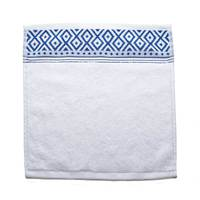 Cannon Face Towel White/Blue 33X33cm