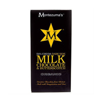 Montezumas Chocolate Organic 54% Milk Chocolate with Butter Scotch 100GR