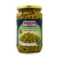 AMERICANA GREEN OLIVES SLICES 335G