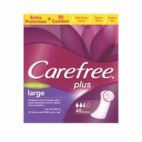 Carefree Ladies Pads Large Fresh 48 Napkins