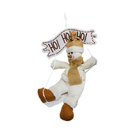 Hanging Decoration White Ho Ho Ho 34CM