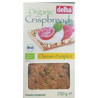 Delba Organic Crispbread Cheese Pumpkin 200g
