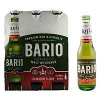 باريو شراب شعير بنكهة الفراولة زجاج 330 مل 6 حبات