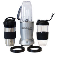 NutriBullet Smoothie Maker 12pc Set, Silver, 1200W, N12-1212
