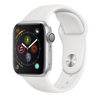 Apple Watch Series-4 GPS + Cellular 40mm Silver Aluminium Case with White Sport Band (MTVA2AE/A)