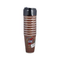 Rz Paper Cup With Cover 470 Ml 10 Pieces