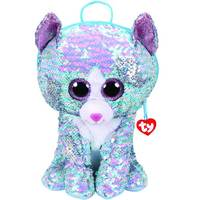 Ty Fashion Sequin Cat Whimsy Blue Backpack