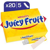 Wrigley's Juicy Fruit Gum, 20 x 5 sticks