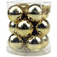 Balls Set Shiny Plain 12Pcs 3Cm Gold