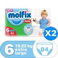 Molfix Flexible Pants Extra Large Jumbo Size 6 15-22kg 84 Counts