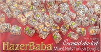 Hazer Baba Coconut Dusted Mixed Nuts Turkish Delight 454g