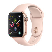 Apple Watch Series-4 GPS + Cellular 40mm Gold Aluminium Case with Pink Sand Sport Band (MTVG2AE/A)