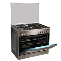 Hoover 90X60 Cm Gas Cooker FGC9060FX 5Burners