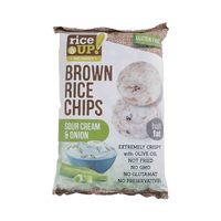رايس أب براون شيبس حامض بنكهة البصل والكريم خالي من الغلوتين 60 غرام