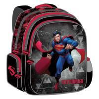 """Super Man - Backpack 18"""" Bk-Rd"""