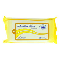 Cool & Cool Lemon Refreshing Wipes 20's