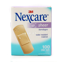 Nexcare Sheer Plasters Sensitive 656-100 72X25MM