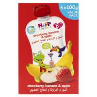 Hipp Organic Strawberry, Banana & Apple 100gx4