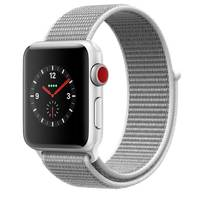 Apple Watch Series-3 42mm GPS+ Cellular Silver Aluminium Case With Seashell Sport Loop (MQKQ2AE/A)