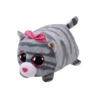 Ty Teeny Plush CASSIE Cat, Grey