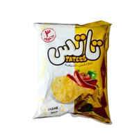 Tattes Seasoned Cheese Potato Chips Family Size - 60 gm