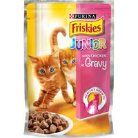 Purina Friskies Junior With Chicken In gravy Cat Food Single Serve Pouch 100 g