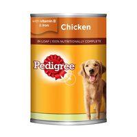 PEDIGREE® Chicken Loaf Wet Dog Food Can 400g