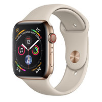 Apple Watch Series-4 GPS + Cellular 40mm Gold Stainless Steel Case with Stone Sport Band (MTVN2AE/A)